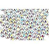 EIMASS DMC - Strass à envers plat thremoscellable brillants verre cristaux bijoux lot de 1440 articles
