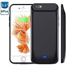 Vobon Funda Bateria iPhone 6 Plus/6S Plus, 7200mAh Carcasa Bateria, Externa Recargable Protector Cargador Power Bank Case para Apple iPhone 6 Plus/6S Plus (5,5) (Negro)