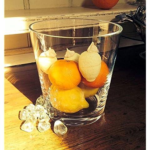 Recipiente de cristal de azúcar sal tuercas frutas dulces Pasta galletas florero 18 cm