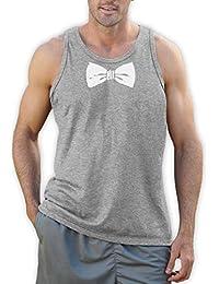 Printed Tuxedo White Bow Tie Funny Vest Singlet