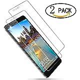 [2 Pack] Protector de Pantalla Cristal Templado para Huawei Honor 5X Wellead Vidrio Templado Película Protector de Pantalla Anti-rasguños 0.3MM Alta Transparencia