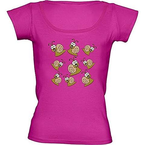 Camiseta Cuello Redondo para Mujer - Caracol Sonriendo by zorg