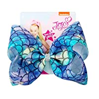 JOJO Siwa 8inch Blue Mermaid Series Large Bow Hair Clip for Kids - Children Must-have Hair Accessories - Cosplay Costume Party Favor - Gift Choice Preferred