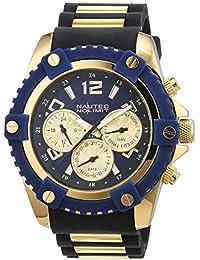 Caballeros-reloj Nautec No Limit glaciar 2 goma de Cuarzo Análogo GLAC2 - QZ-RBGD-BL
