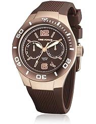 Time Force TF4181L15 - Reloj con correa de silicona para mujer, color marrón / gris