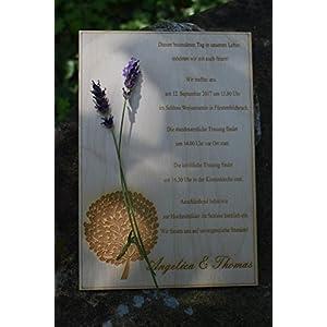 13,5 x 20 cm Holz - Einladung, Hochzeitseinladung, Hochzeitskarten, Gastgeschenk, Vintage ( graviert, eingebrannt ) ,