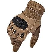REEBOW GEAR 4333446386, Reebow Gear Herren voll Finger Handschuhe Army Racing Gloves Fahrradhandschuhe (Braun, M(8 /20cm-22cm))