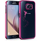kwmobile Hülle für Samsung Galaxy S6 / S6 Duos - Backcover Case Handy Schutzhülle - Cover klar Fee Design Pink Transparent