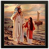 Printelligent Exclusive Framed Wall Art Paintings Of Jesus For Living Room Bedroom And Decoration Purpose Frame Size (12 Inch X 12 Inch, (Synthetic, 30 Cm X 3 Cm X 30 Cm, Special Effect Textured)