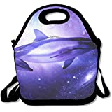 Neoprene Lunch Tote - Unique Design Waterproof Reusable Cooler Bag For Men Women Adults Kids Toddler Nurses With Adjustable Shoulder Strap - Best Travel Bag - B073Z5RSDB