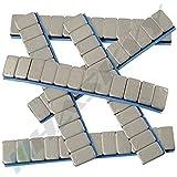 100 pesos de rueda 12x5g pesos adhesivos 6kg pesos de acero tiras adhesivas 60g con tira para cortar galvanizado & plástico recubierto