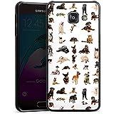 Samsung Galaxy A3 (2016) Housse Étui Protection Coque Chat Chien Golden Retriever