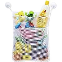 Preisvergleich für Starsglowing Badewanne Spielzeug Netztasche Bad Spielzeug Organizer Netz Aufbewahrungstasche mit 2 Saugnäpfe (ohne Spielzeug)