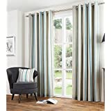 Just Contempo - Cortinas con forro y ojales, 116,8x 137,1 cm, diseño a rayas, color gris, algodón poliéster, azul pastel, 90 x 72 inches