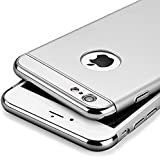 AEETZ Ultra-Thin 3-in-1 Electroplate Metal Texture Hard Plastic Back Case Cover for Apple iPhone 6 / 6s, 4.7-inch (Silver)