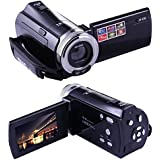 Stoga C8 Digital Videocámara 16MP Alta Definición DV DVR 2,7 '' TFT LCD 16x Zoom HD Grabador Video Recorder Cámara 1280 x 720p 270 ° Rotación Deportes Vídeo Réflex Cámara - Negro