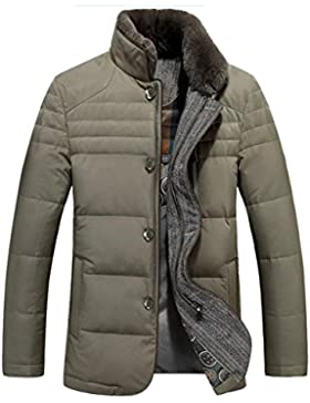 MHGAO Abrigo de invierno negocios chaqueta de los hombres al aire libre , khaki , xl