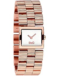D&G Dolce&Gabbana Damen-Armbanduhr CHECK IP ROSE SLV DIAL BRC DW0341