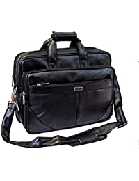 """AYS Stylish 15.5"""" Faux Leather Expandable Specious Laptop Sleeve Messenger Office Bag"""