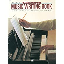 Alfred's Giant Music Writing Book: 12 Staff, Full 9 X 12 Size