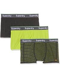 Superdry Herren Sportunterwäsche Sport Trunk Stripe Triple Pack