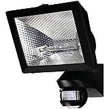 projecteur halogène 500 watts noir avec détecteur de mouvement