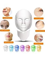 WAMK SPA Familiar 7 Colores LED máscara de Belleza Terapia de fotones Masaje Facial Anti Arrugas blanqueamiento Cuidado de la Piel máquina de Belleza portátil