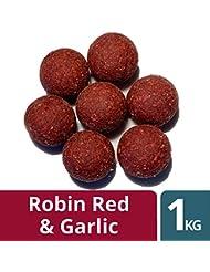 Lochk/öder Boilies rot Hakenmontage Angelk/öder AlltechCoppens 1 kg Red Halibut 20,0 mm