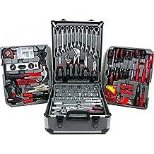 Caja de herramientas de trabajo completa Maleta de Aluminio Carro Kit puerta Herramientas Herramientas 15093