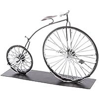 MagiDeal Mini Fahrrad Modell Diecast Spielzeug Fahrradmodell Tisch Deko Kinder Weihnachtsgeschenk Schwarz