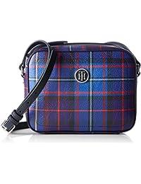 Tommy Hilfiger Effortless Novelty Camera Bag Print, Sacs bandoulière femme, Blau (Tartan), 5x18x23 cm (B x H T)
