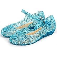 Katara - Zapatos para disfraz de princesa Elsa de Frozen, color azul, EU 29 (Tamaño del fabricante: 31)