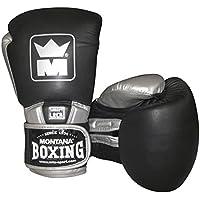 Montana 451078–Guantes de Boxeo Unisex, Color Negro