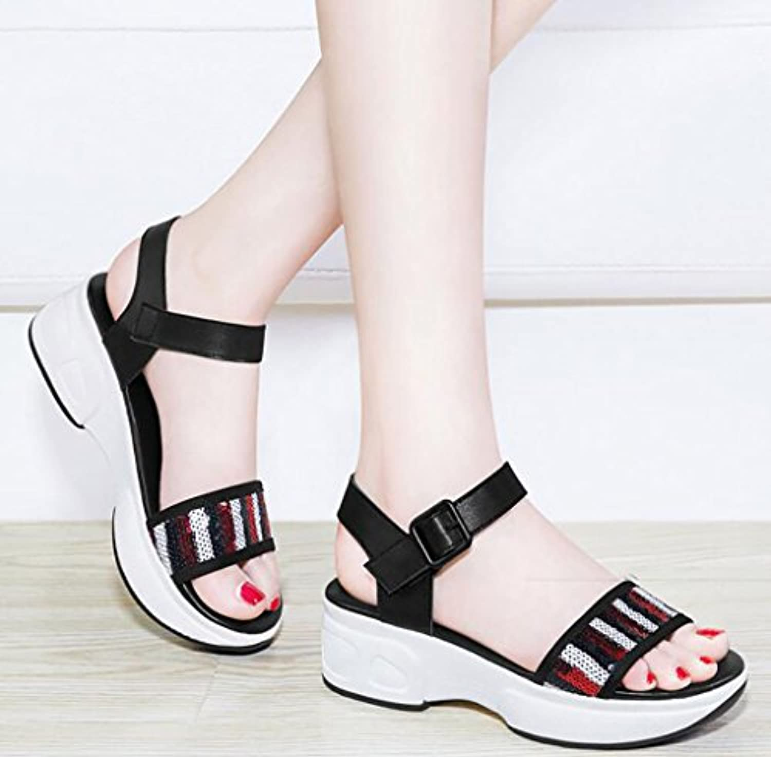 3eae876330c9 Roman sandals  ... female summer flat sandals simple Korean wild wild  simple thick shoes Flat Sandals