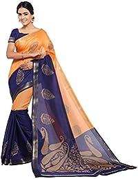 Samskruti Sarees Cotton Silk Saree With Blouse Piece (Multicolor_Free Size)