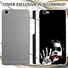 CUSTODIA COVER CASE JOKER BLACK WHITE PER HUAWEI P8 LITE SMART ALLUMINIO