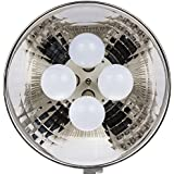 """Dörr 373470Durée DL de lumière 400avec 4x 10W Ampoule LED Réflecteur 16"""", diamètre Env. 41cm, température de couleur: 5000K (Noir)"""