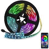 Eleadsouq LED Strip Light, Smart 2 Meters 120 LEDs Bluetooth USB Light, Colorful Seasonal Decor RGB Multicolor Rope Lighting,