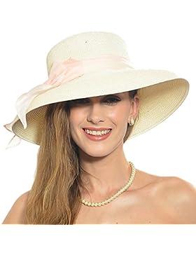 forbusite lazo grande de la mujer ala ancha sombrero de sol WK288