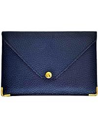Charmoni - Porte Papiers De Voiture Enveloppe à Bouton Pression Permis De Conduire La Carte Grise Carte Bleue En Croûte Cuir Mazlum