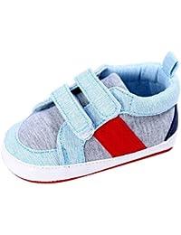 Topgrowth Neonato Sneakers Loop Culla Scarpe da Ginnastica Morbida Scarpe Cotone Primi Passi Bambino 0-18 Mesi