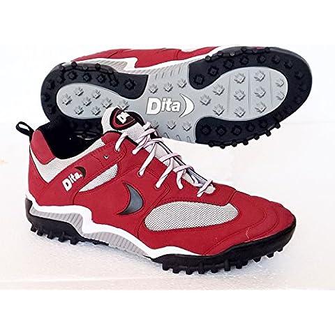 Dita–Zapatillas de hockey sobre césped rey (rojo) Reino Unido tamaño 13/EU 48