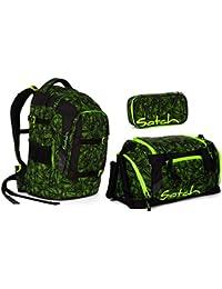 Satch Pack - 3 tlg. Set Schulrucksack - Farbauswahl - Schulrucksack + Sporttasche + Schlamperbox