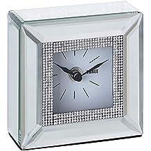 Reloj de Espejos de Cristal Plateado romántico para Dormitorio Arabia - LOLAhome