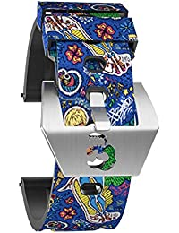 OLLREAR Silicona Correa Reloj Recambios Correa Relojes Caucho Suave for Panerai - 6 Colors & 4 Sizes - 20mm, 22mm, 24mm, 26mm (20mm, Azul)