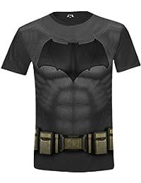 Batman v Superman - Batman Costume Full Printed Herren T-Shirt - Schwarz