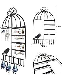 Aution House Support à bijoux en forme de cage à oiseaux Style Vintage élégant