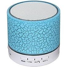 Android Mini Altavoz Bluetooth Wireless USB Música barra de sonido del subwoofer con micrófono (TF tarjeta de apoyo) -azul