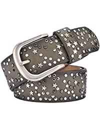 Wicemoon 1pcs Cinturones Mujer Cinturón de Hebilla Con Remaches Geométricos  Star Cinturón ... 6247d238f95d