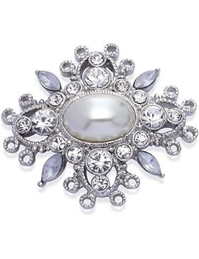 Jodie Rose Damen-Brosche Metall Glaskristall 38 mm 11901